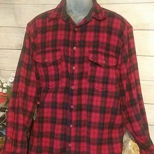 Pendleton outdoorsman red plaid shirt